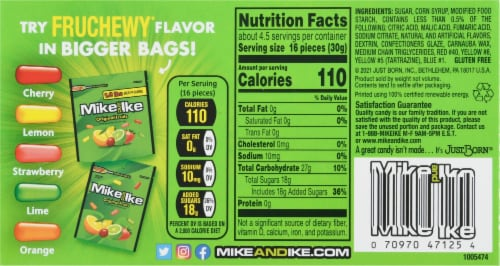 Mike & Ike Original Fruits Chewy Candy Perspective: back