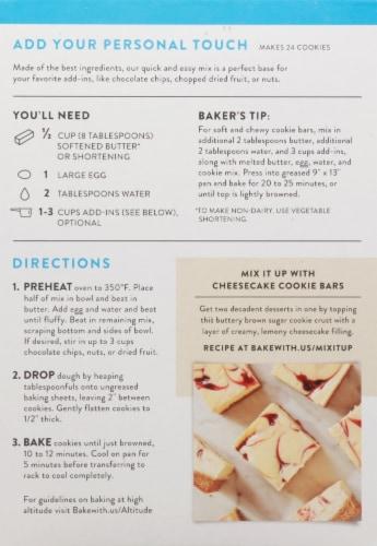 King Arthur Flour Gluten Free Cookie Mix Perspective: back