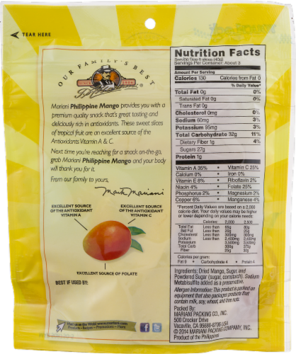 Mariani Premium Philippine Dried Mango Perspective: back