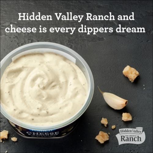 Hidden Valley Deluxe Garlic Parmesan Cheese & Ranch Dip Perspective: back
