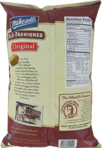 Mikesell's Old Fashioned Potato Chips Perspective: back