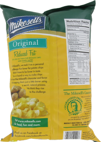 Mike-Sells Reduced Fat Potato Chips Perspective: back