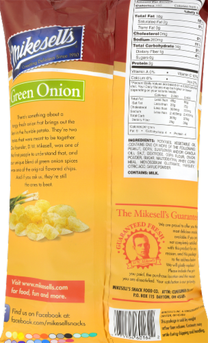 Mikesell's Green Onion Potato Chips Perspective: back