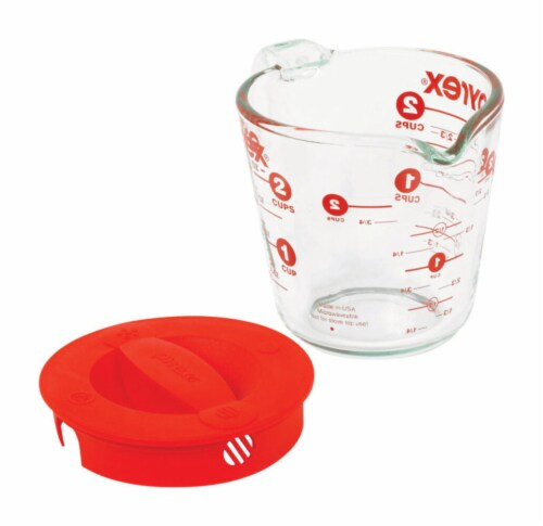 Pyrex Covered Measuring Cup Perspective: back