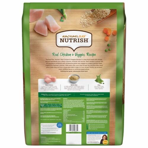 Rachael Ray® Nutrish Real Chicken & Veggies Recipe Dry Dog Food Perspective: back