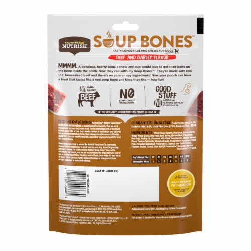 Rachael Ray Nutrish Soup Bones with Beef & Barley Dog Chew Bones Perspective: back