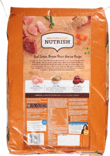 Rachael Ray Nutrish Turkey Brown Rice and Venison Dry Dog Food Perspective: back