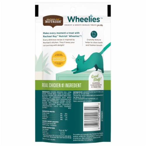 Rachael Ray Nutrish Wheelies Real Chicken Cat Treats Perspective: back