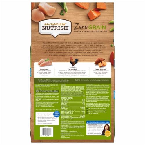 Rachael Ray Nutrish Zero Grain Chicken & Sweet Potato Dry Dog Food Perspective: back