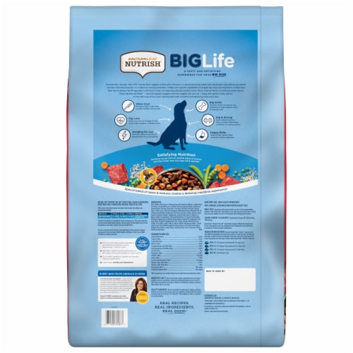Rachael Ray Nutrish Big Life Hearty Beef Veggie & Brown Rice Recipe Dry Dog Food Perspective: back