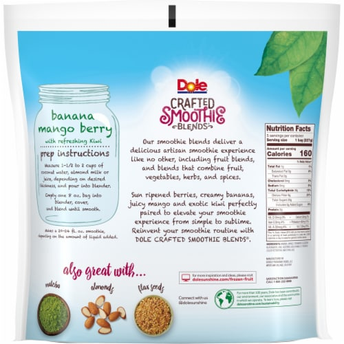 Dole Banana Mango Berry Crafted Smoothie Blend Perspective: back