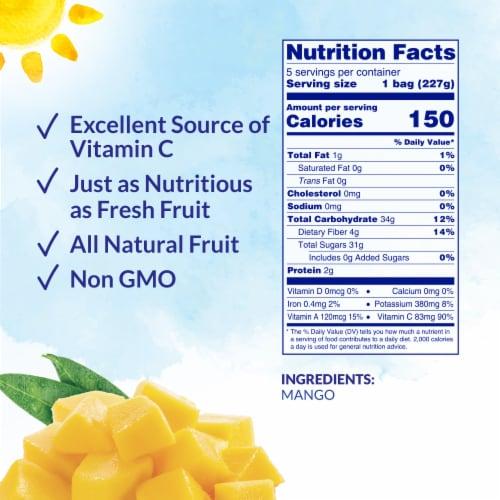 Dole® Mango Chunks Pre-Portioned Frozen Fruit Perspective: back