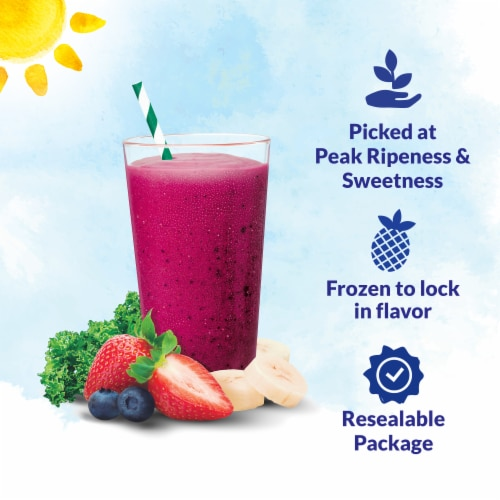 Dole Fruit & Veggie Berries 'n Kale Frozen Blend Perspective: back