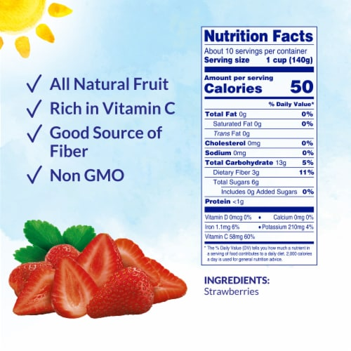 Dole Frozen Sliced Strawberries Perspective: back