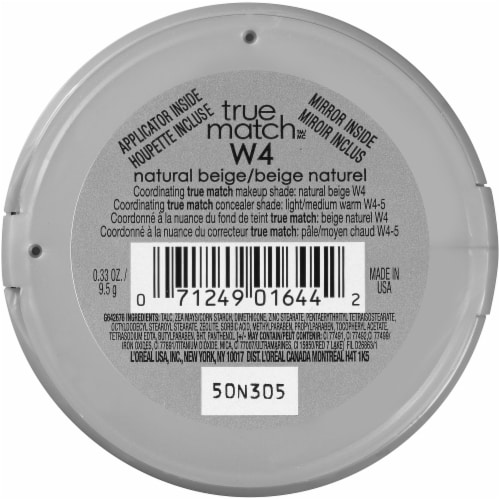 L'Oreal Paris True Match Natural Beige W4 Super-Blendable Powder Perspective: back