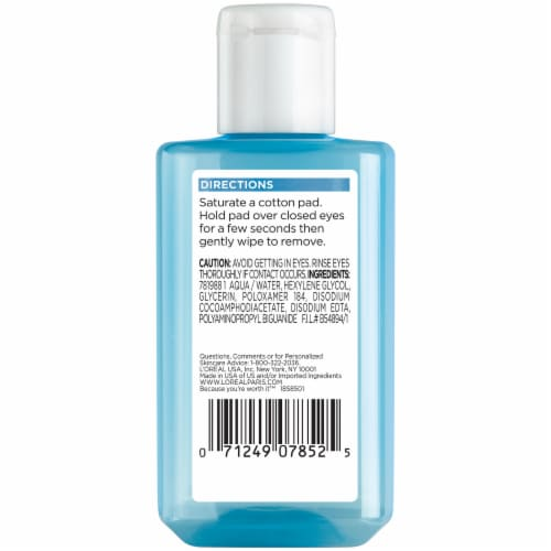L'Oreal Paris Oil-Free Eye Makeup Remover Perspective: back