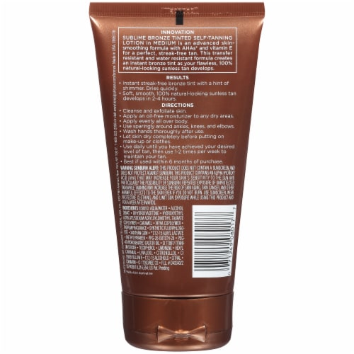 L'Oreal Paris Sublime Bronze Tinted Self-Tanning Lotion Perspective: back