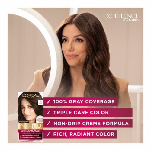 L'Oreal Paris Excellence Creme 5AR Medium Maple Brown Hair Color Kit Perspective: back