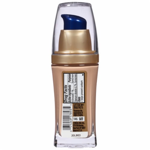 L'Oreal Paris Visible Lift Nude Beige Serum Absolute Foundation Perspective: back