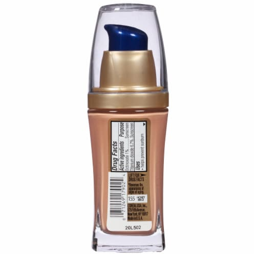 L'Oreal Paris Visible Lift Honey Beige Serum Absolute Foundation Perspective: back