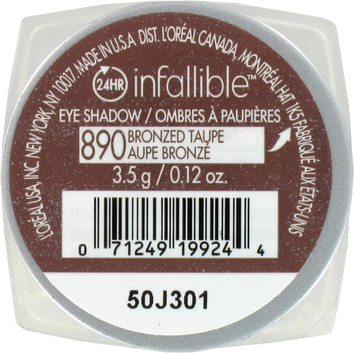 L'Oreal Paris Infallible Eye Shadow - Bronzed Taupe Perspective: back