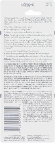 L'Oreal Paris Voluminous Million Lashes Carbon Black Mascara Perspective: back