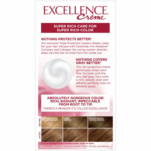 L'Oreal Paris Excellence Creme 6G Light Golden Brown Hair Color Kit Perspective: back