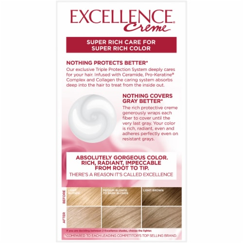 L'Oreal Paris Excellence Creme 8.5A Champagne Blonde Hair Color Perspective: back