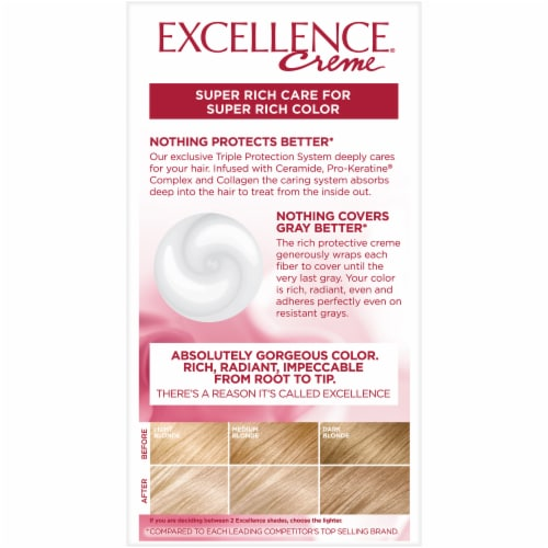 L'Oreal Paris Excellence Creme 9 Light Natural Blonde Hair Color Kit Perspective: back