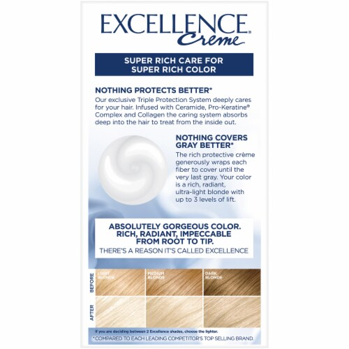 L'Oreal Paris Excellence Creme 01 High-Lift Extra Light Natural Ash Blonde Hair Color Kit Perspective: back