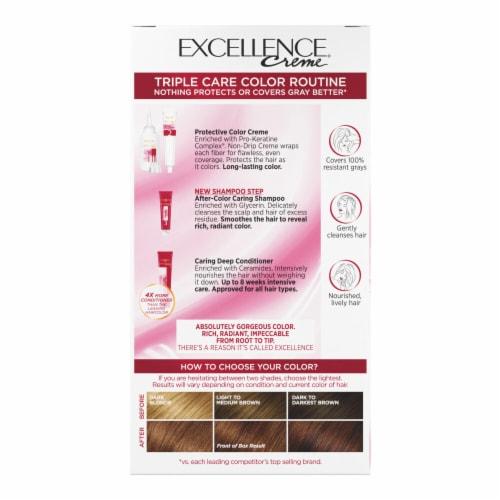 L'Oreal Paris Excellence Creme Triple Protection Color 5CB Medium Chestnut Brown Perspective: back