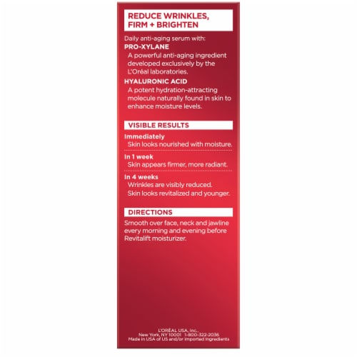 L'Oreal Paris Revitalift Triple Power Concentrated Serum Treatment Perspective: back
