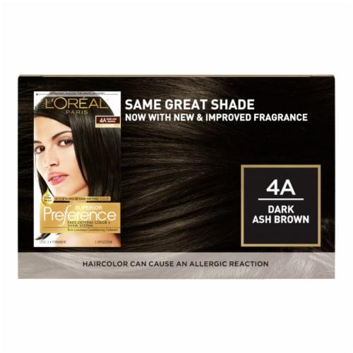 L'Oreal® Paris Superior Preference® 4A Dark Ash Brown Cooler Permanent Hair Color Kit Perspective: back