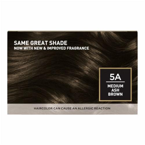 L'Oreal Paris Superior Preference 5A Medium Ash Brown Cooler Hair Color Perspective: back