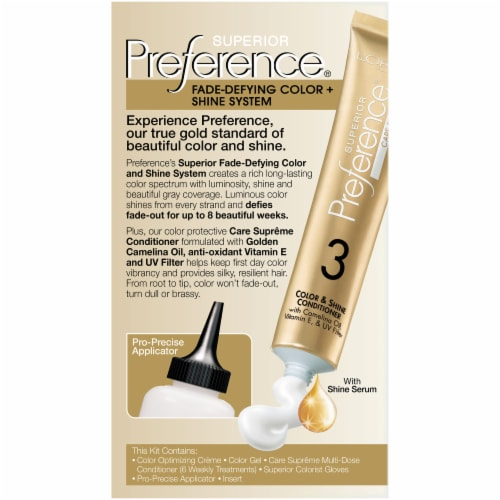 L'Oreal Paris Superior Preference Fade-Defying Shine Permanent Hair Color 6A Light Ash Brown Perspective: back