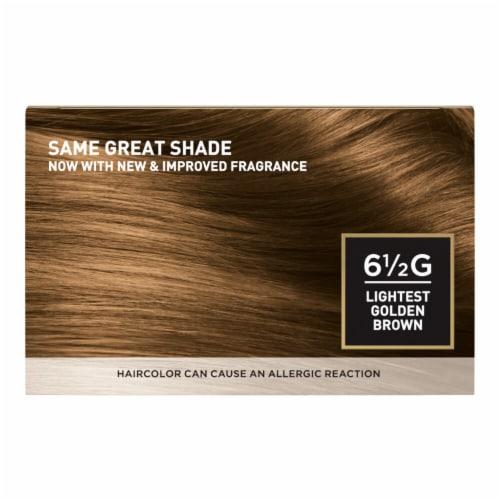 L'Oreal Paris Superior Preference Lightest Golden Brown 6.5G Hair Color Perspective: back