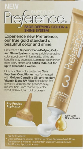 L'Oreal Paris Superior Preference Fade-Defying Shine Permanent Hair Color 9A Light Ash Blonde Perspective: back