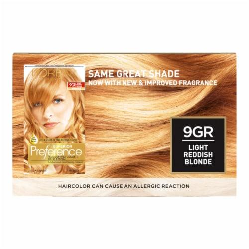 L'Oreal® Paris Superior Preference® 9GR Light Reddish Blonde Permanent Hair Color Kit Perspective: back