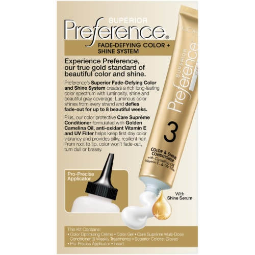 L'Oreal Paris Superior Preference Permanent Hair Color Kit - 6AM Light Amber Brown Perspective: back