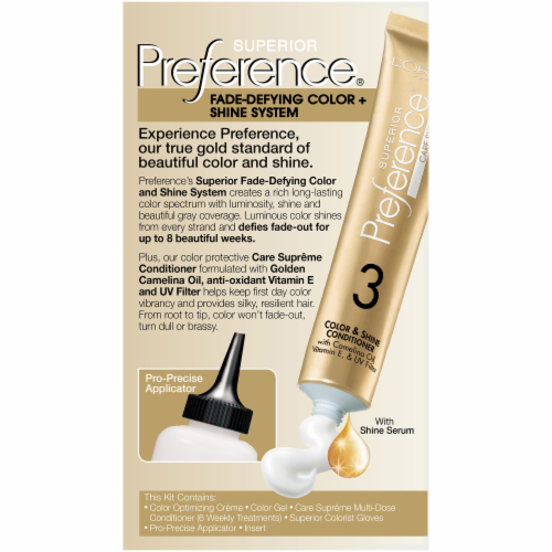 L'Oreal Paris Preference LB02 Extra Light Natural Blonde Hair Color Perspective: back