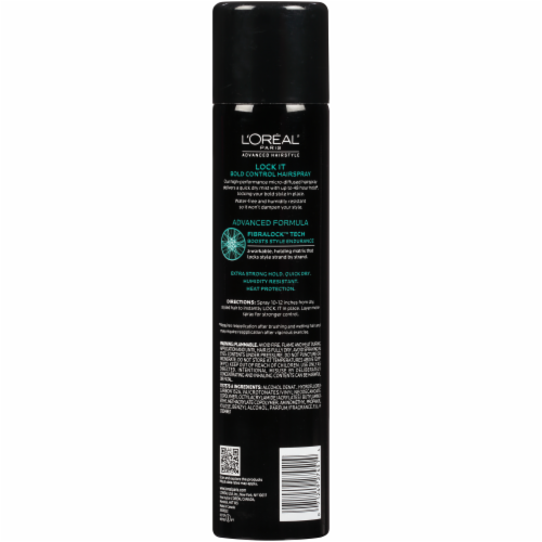L'Oreal Paris Advanced Hairstyle LOCK IT Bold Control Hairspray Perspective: back