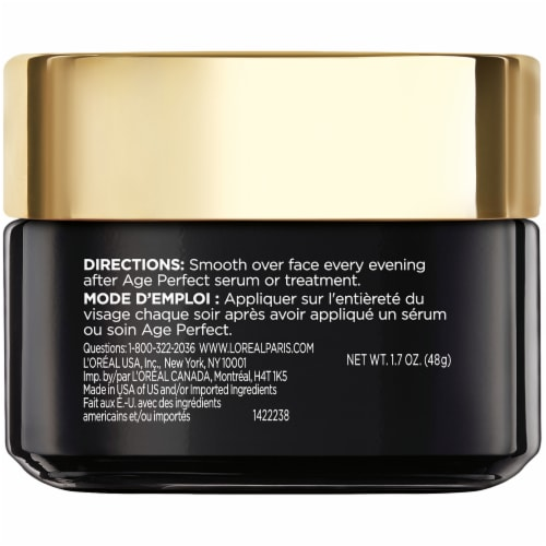 L'Oreal Paris Age Perfect Cell Renewal Night Cream Moisturizer Perspective: back
