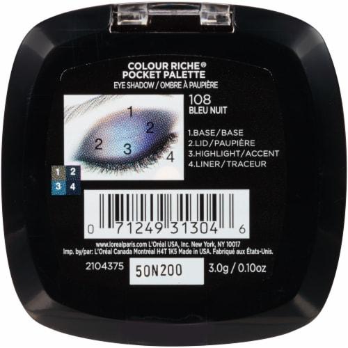 L'Oreal Paris Colour Riche Pocket Eyeshadow Palette - 108 Bleu Nuit Perspective: back