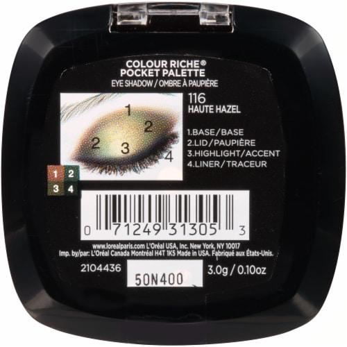 L'Oreal Paris Riche Eyeshadow Palette - 116 Haute Hazel Perspective: back