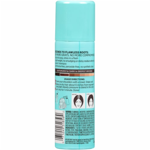 L'Oreal Paris Magic Root Cover Up Dark Brown Temporary Gray Concealer Spray Perspective: back