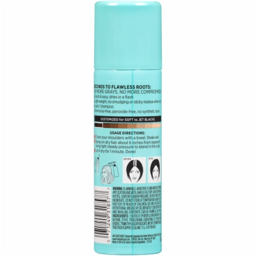 L'Oreal Paris Magic Root Cover Up Temporary Gray Concealer Spray - Black Perspective: back