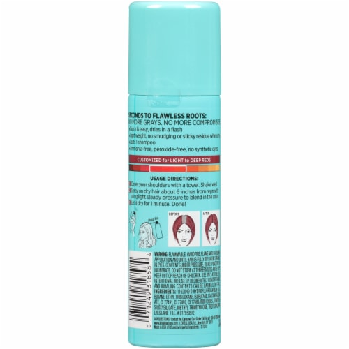 L'Oreal Paris Root Cover Up Temporary Gray Concealer Spray - Red Perspective: back