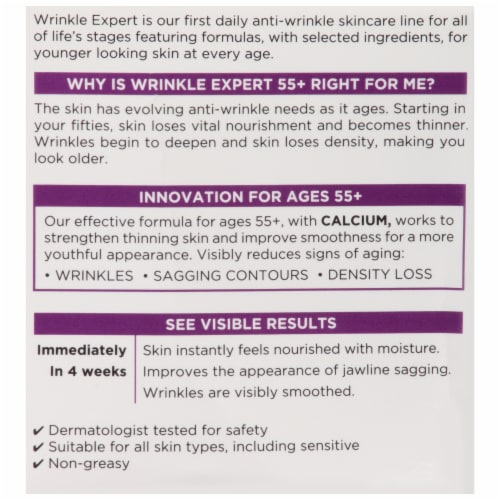 L'Oreal Paris Wrinkle Expert 55+ Moisturizer Perspective: back