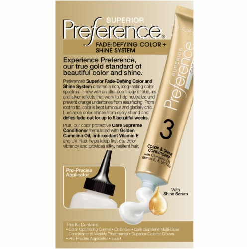 L'Oreal Paris Superior Preference Cool Darkest Brown 3C Hair Color Perspective: back