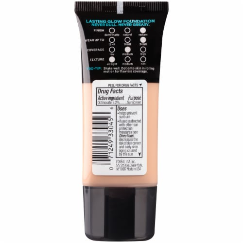 L'Oreal Paris Infallible Pro Glow 204 Natural Buff Foundation Perspective: back